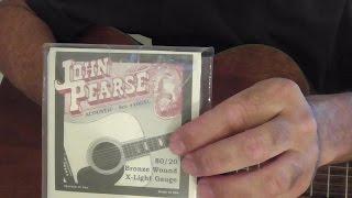 John Pearse 80/20 Bronze Wound Guitar String Review VS D'Addario EJ11