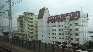 【JR神戸線新快速】 明石駅→兵庫駅 JR Kobe Line '''Special Rapid Sercice'''  (天気:雨)