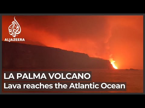 Lava from La Palma volcano reaches ocean nine days after eruption