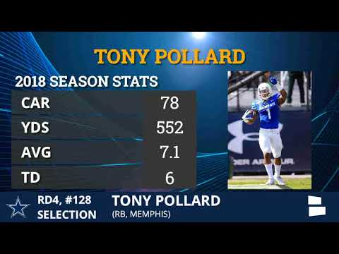 Tony Pollard Drafted By Dallas Cowboys With Pick 128 In Round 4 of 2019 NFL Draft - Grade & Analysis