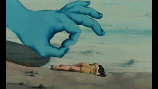 작은 인간을 가지고 노는 거대한 손