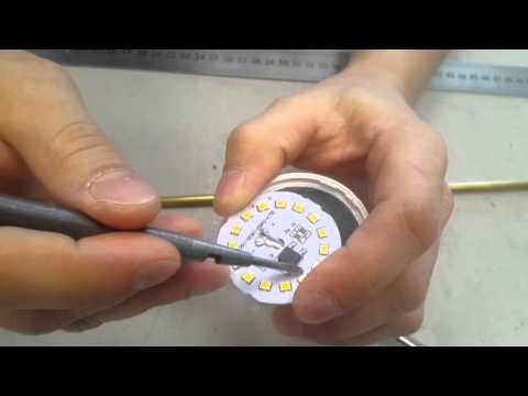 Как разобрать led лампу e27