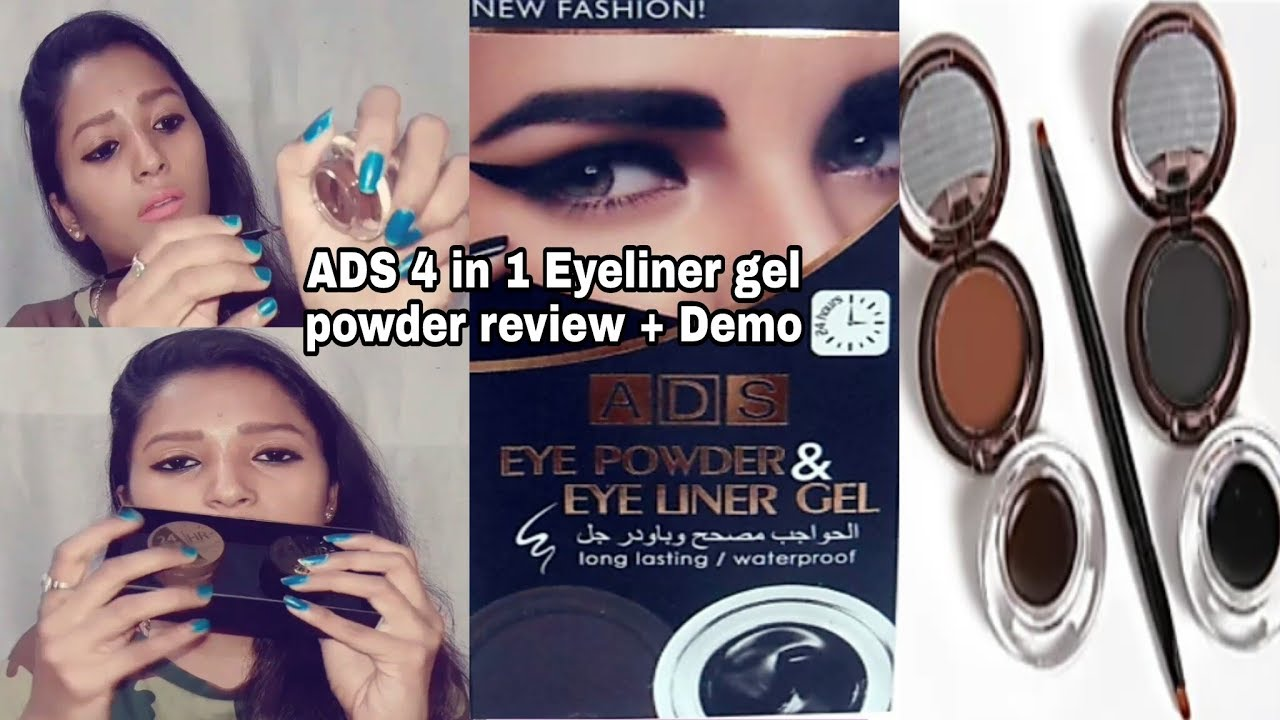 Ads 4 In 1 Eyeliner Gel And Eyebrow Powder Review Demo Style