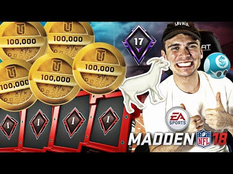 MY BEST TOP 100 MADDEN 18 WEEKEND LEAGUE REWARDS SO FAR!