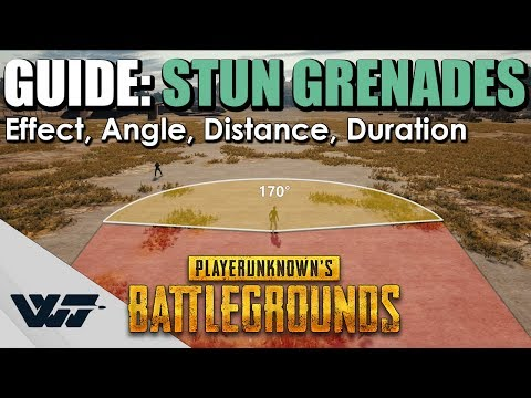 GUIDE: How Do STUN GRENADES Work In PUBG? (Effect, Angle, Distance, Duration)