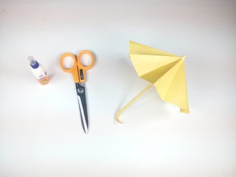 How to Make a Paper Umbrella Easy Tutorials Step by Step-Origami Umbrella : That Open and Closes-HD