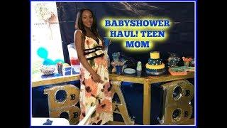 Babyboy Babyshower Haul! TEEN MOM   Brooke Janae