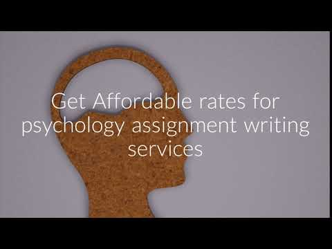 Affordable rates for psychology assignment writing services