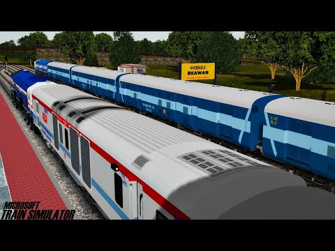 Ahmedabad - Delhi Ashram Express || Royal Rajasthan || MSTS Open Rails || Indian Train Simulator