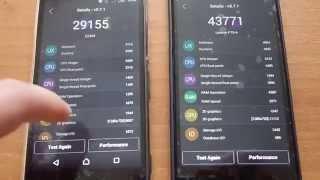 Sony M4 Aqua vs Lenovo P70 - [Benchmark Qualcomm octa core VS Mediatek octa core]