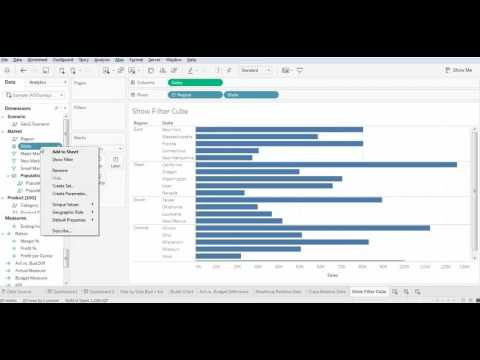 Custom Filter for Cube Data Source in Tableau
