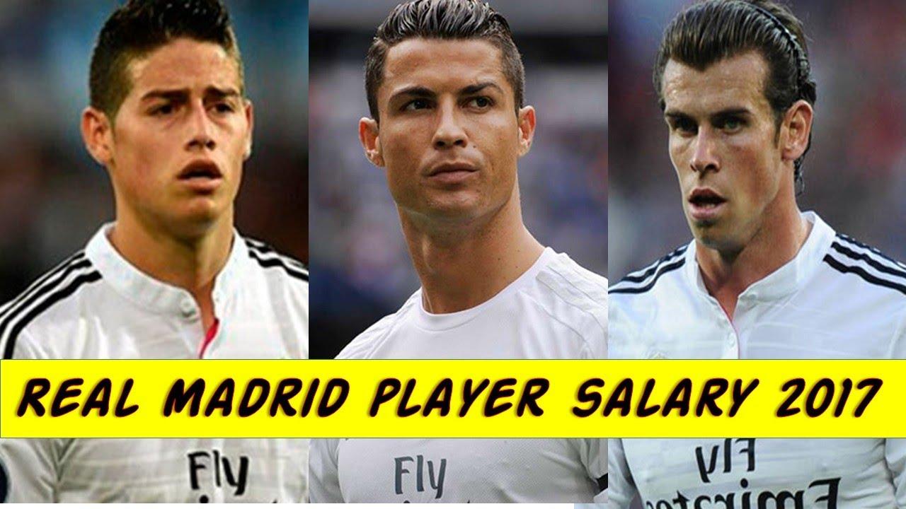 real madrid players weekly salary 2017