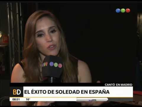 La Sole se presentó en España - Telefe Noticias