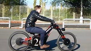 Электромотоцикл своими руками / Электровелосипед своими руками 26 Bike Emotors(Легкий городской электромотоцикл своими руками на базе велодеталей. Вес 75 кг. макс. скорость 50 км/ч. 2 мотора..., 2015-10-24T16:15:21.000Z)