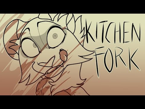 Kitchen Fork || Experimental Lineart OC MAP (COMPLETE)//BLOOD + GORE WARNING