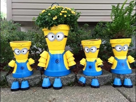 25 Clay Flower Pot People