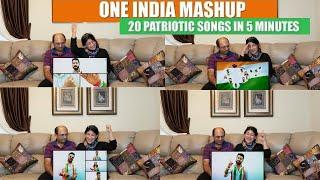 One India Mashup (20 Patriotic Songs in 5 Min) | Best Patriotic Songs | #vandemataram | Reaction!!
