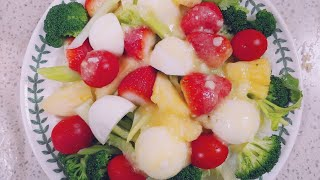 (다이어트diet,건강식,면역력 강화)과일야채샐러드.파…