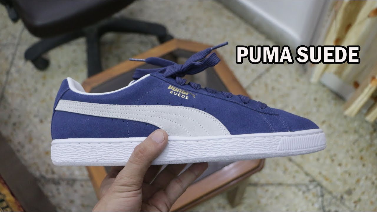 Puma Suede Classic ( Blue ) On-feet and