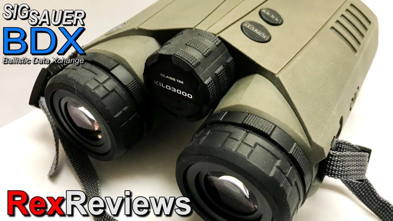 Sig Sauer KILO3000 BDX 10x42 LASER Rangefinder Binoculars ~ Rex Reviews