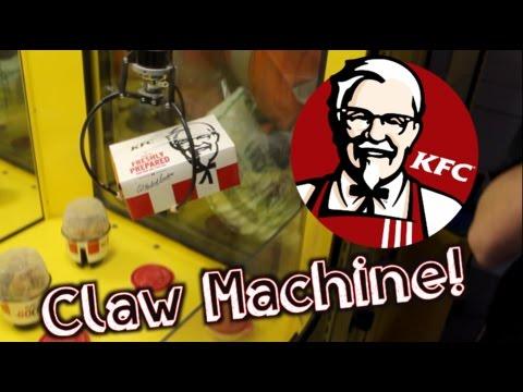 Winning KFC From a Claw Machine!