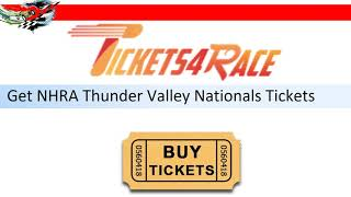 NHRA Thunder Valley Nationals Tickets Discount Coupon