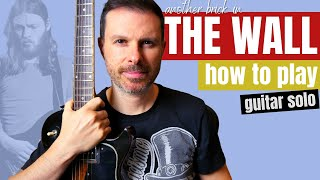 Another Brick in The Wall // guitar solo lesson - how to play the right way (tutorial)