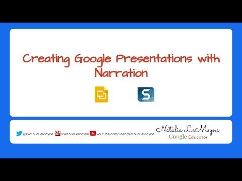 Narration over Google Slides