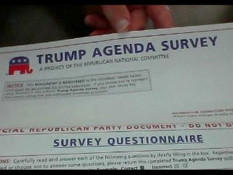 GOP Mails Out Trump Agenda Survey Asking More Power For Trump
