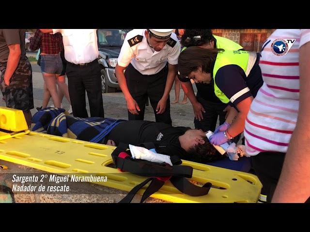 TUNQUÉN: IRRESPONSABILIDAD DE VERANEANTE OBLIGÓ AEROEVACUACIÓN EN HELICÓPTERO NAVAL