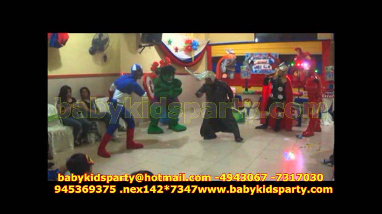 Show Infantil De Los Vengadores En Lima Baby Kids Party