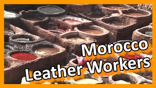Leather processing craft, Morocco