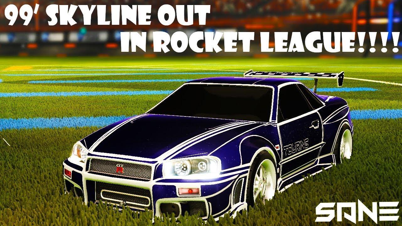 Rocket League New Nissan Skyline Gtr R34 Out Youtube