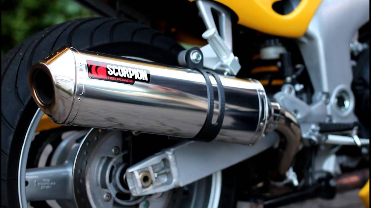triumph sprint rs 955i scorpion exhaust - youtube