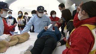南海トラフ巨大地震に備え 病院で大規模災害訓練 香川県・高松市