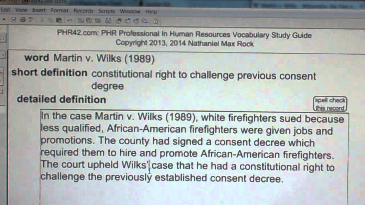Martin v wilks 1989 phr sphr professional in human resources wilks 1989 phr sphr professional in human resources license exam vocabubee 1betcityfo Image collections