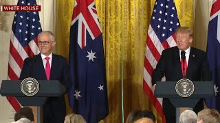 Trump holds press conference with Australian Prime Minister