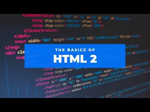 HTML Basics Part 2