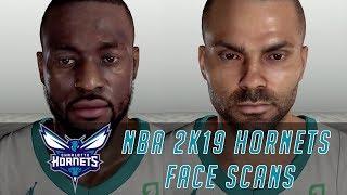 NBA 2K19 HORNETS FACE SCANS