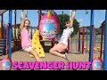 Scavenger Hunt At The Park For Rainbocorns Surprise EGG TOYS!