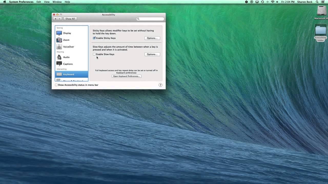Sticky Keys | Mac Senior Tips