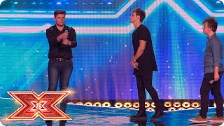 spencer benji and lloyd fight for their seats in a sing off   six chair challenge   the x factor