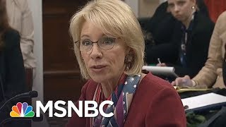 Betsy DeVos Finally Answers Congresswoman's Question, A Year Later | All In | MSNBC