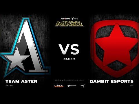 [EN] Team Aster vs Gambit Esports, Game 2, StarLadder ImbaTV Dota 2 Minor Season 3