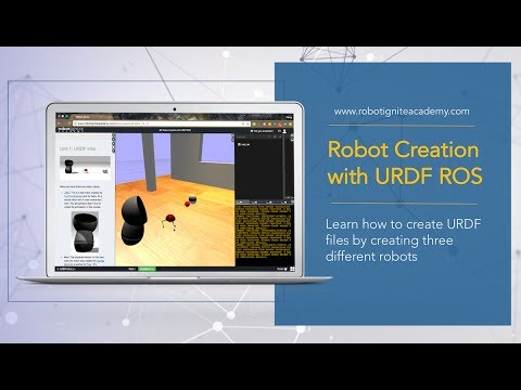 [ROS Tutorial] Robot Creation with URDF ROS. Create URDF files by creating 3 robots.