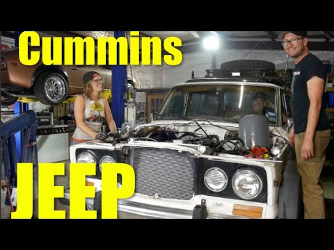 Jeep Wagoneer 2018 >> Cummins swap Jeep Wagoneer! In the shop with Emily EP 34 ...