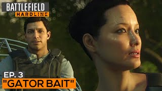 Battlefield Hardline Gameplay Walkthrough Part 4 - Episode 3: Gator Bait (All Evidence)