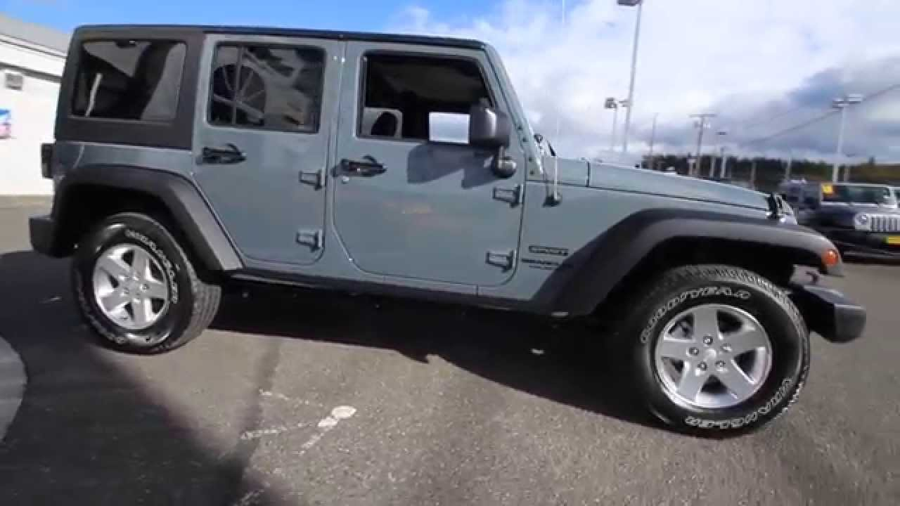 2015 Jeep Wrangler Unlimited Sport Anvil Fl545513 Mt