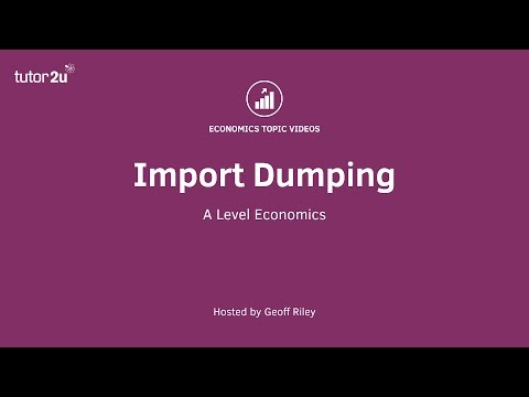 Trade Theory - Import Dumping