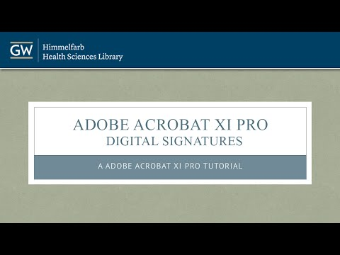 Adobe Acrobat XI Pro - Digital Signatures